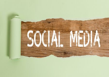Text sign showing Social Media. Business photo text Online communication channel Networking Microblogging