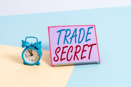 Text sign showing Trade Secret. Business photo text Confidential information about a product Intellectual property Stock fotó