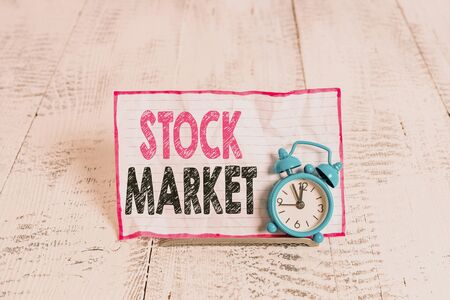 Text sign showing Stock Market. Business photo text Particular market where stocks and bonds are traded or exhange Reklamní fotografie