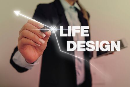 Text sign showing Life Design. Business photo text balance how you live between work family and entertaining