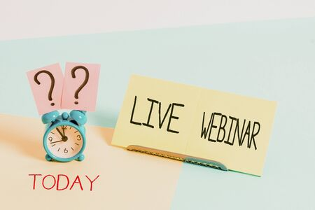 Handwriting text writing Live Webinar. Conceptual photo Interactive seminar transmitted over the web Real Time