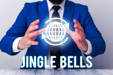 Handwriting text Jingle Bells. Conceptual photo Most famous traditional Christmas song all over the world