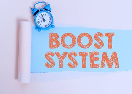 Text sign showing Boost System. Business photo showcasing Rejuvenate Upgrade Strengthen Be Healthier Holistic approach