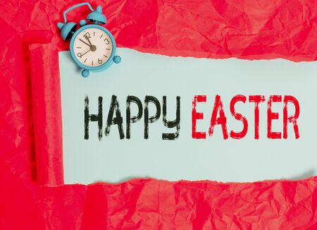 Word writing text Happy Easter. Business photo showcasing Christian feast commemorating the resurrection of Jesus