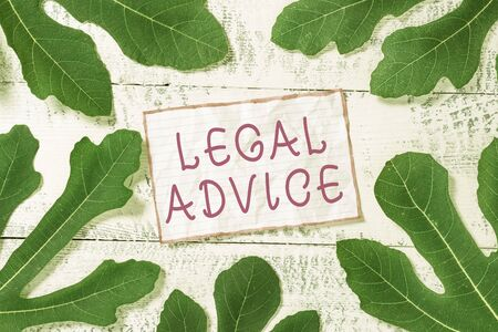 Handwriting text Legal Advice. Conceptual photo Lawyer opinion about law procedure in a particular situation