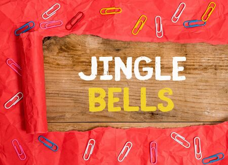 Word writing text Jingle Bells. Business photo showcasing Most famous traditional Christmas song all over the world