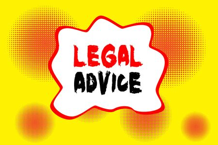 Text sign showing Legal Advice. Business photo showcasing Lawyer opinion about law procedure in a particular situation Halftone circles vanishing. Abstract seamless round pattern. Gradient