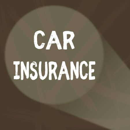 Handwriting text Car Insurance. Conceptual photo Accidents coverage Comprehensive Policy Motor Vehicle Guaranty Abstract Violet Monochrome of Disarray Smudge and Splash of Paint Pattern