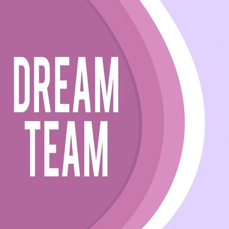 Handwriting text Dream Team. Conceptual photo Prefered unit or group that make the best out of a demonstrating Three Tone Curve with Shadow Dividing Background into Light and Dark in Maroon Stock Photo