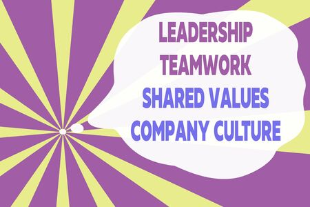 Text sign showing Leadership Teamwork Shared Values Company Culture. Business photo text Group Team Success Abstract geometric deep design. Simulating depth background. Futuristic