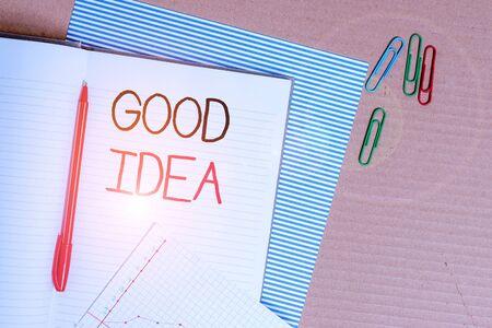Schreiben Hinweis mit guter Idee. Geschäftskonzept für den Zustand des huanalysis-Gehirns, um große Intelligenz in Richtung etwas zu bringen