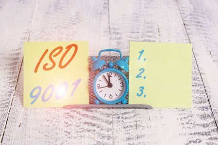 Handwriting text writing Iso 9001. Conceptual photo designed help organizations to ensure meet the needs of customers