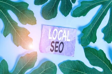Word writing text Local Seo. Business photo showcasing This is an effective way of marketing your business online