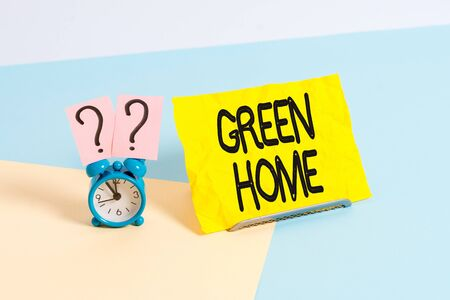 Handwriting text writing Green Home. Conceptual photo An area filled with plants and trees where you can relax Stok Fotoğraf