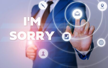 Word writing text I M Sorry. Business photo showcasing Toask for forgiveness to someone you unintensionaly hurt