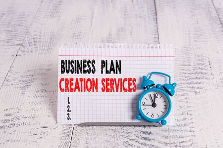Conceptual hand writing showing Business Plan Creation Services. Concept meaning paying for professional to create strategy