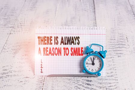 Conceptual hand writing showing There Is Always A Reason To Smile. Concept meaning Positive thinking good attitude energy Stock fotó