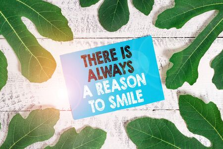 Word writing text There Is Always A Reason To Smile. Business photo showcasing Positive thinking good attitude energy Stock fotó