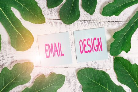 Handwriting text Email Design. Conceptual photo reusable HTML file that is used to build email campaigns