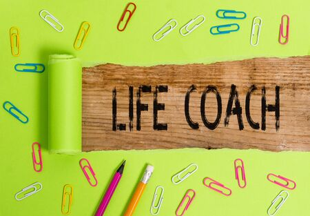 Conceptual hand writing showing Life Coach. Concept meaning A demonstrating who advices clients how to solve their problems or goals