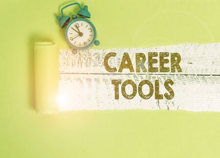 Handwriting text writing Career Tools. Conceptual photo the system designed to assist and enhance your career