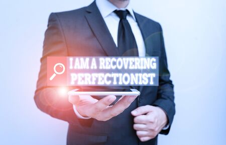 Word writing text I Am A Recovering Perfectionist. Business photo showcasing Obsessive compulsive disorder recovery 写真素材