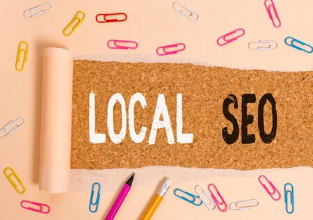 Handwriting text writing Local Seo. Conceptual photo This is an effective way of marketing your business online
