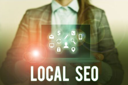 Conceptual hand writing showing Local Seo. Concept meaning This is an effective way of marketing your business online