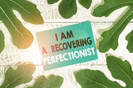 Word writing text I Am A Recovering Perfectionist. Business photo showcasing Obsessive compulsive disorder recovery Reklamní fotografie