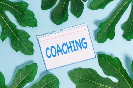 Text sign showing Coaching. Business photo text demonstrating supports client in achieving specific demonstratingal goal