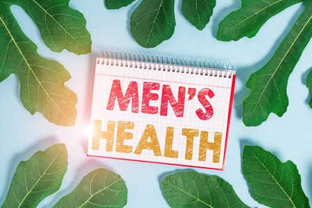 Conceptual hand writing showing Men S Health. Concept meaning State of complete physical and mental wellbeing of men