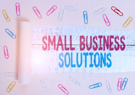 Handwriting text Small Business Solutions. Conceptual photo a Company to solve Specific Trade problems