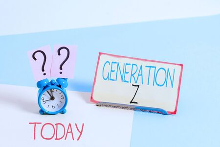 Text sign showing Generation Z. Business photo showcasing name for the generation of children after the millennials