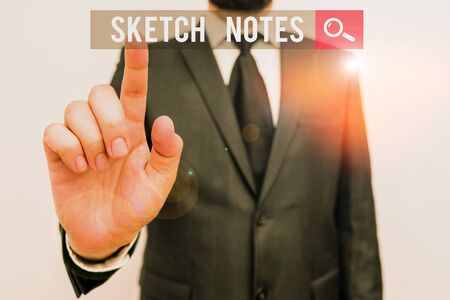 Handwriting text Sketch Notes. Conceptual photo visual notetaking Combination of notetaking and doodling Stock Photo