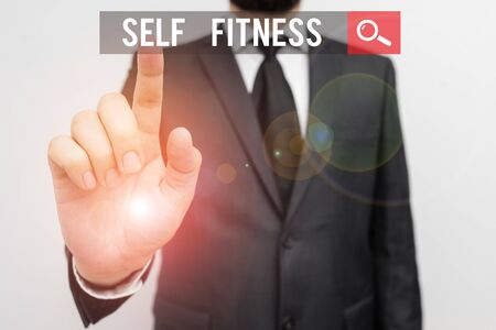 Handwriting text Self Fitness. Conceptual photo state of health and wellbeing and the ability to perform