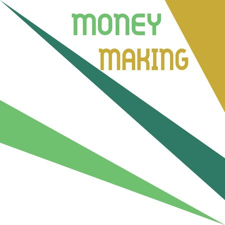 Word writing text Money Making. Business photo showcasing producing a profit especially with little effort Profitable Square rectangle paper sheet loaded with full creation of pattern theme