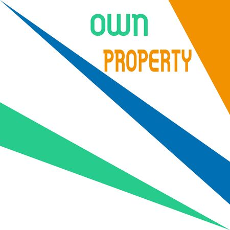 Word writing text Own Property. Business photo showcasing Things that you own and can take it with you Movable Tangible Square rectangle paper sheet loaded with full creation of pattern theme Reklamní fotografie