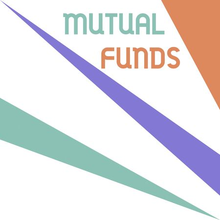Word writing text Mutual Funds. Business photo showcasing collection of stocks bonds or other securities from investors Square rectangle paper sheet loaded with full creation of pattern theme