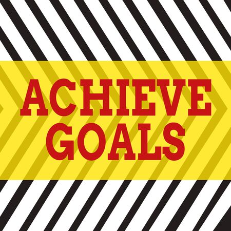 Word writing text Achieve Goals. Business photo showcasing Results oriented Reach Target Effective Planning Succeed Seamless Vertical Black Lines on White Surface in Mirror Image Reflection