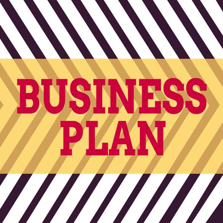 Word writing text Business Plan. Business photo showcasing Structural Strategy Goals and Objectives Financial Projections Seamless Vertical Black Lines on White Surface in Mirror Image Reflection Banco de Imagens