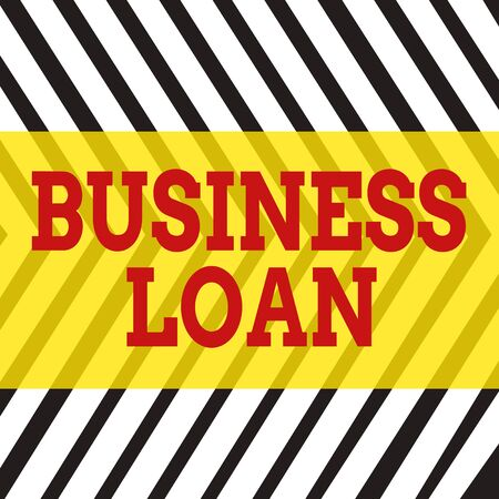 Word writing text Business Loan. Business photo showcasing Credit Mortgage Financial Assistance Cash Advances Debt Seamless Vertical Black Lines on White Surface in Mirror Image Reflection Foto de archivo