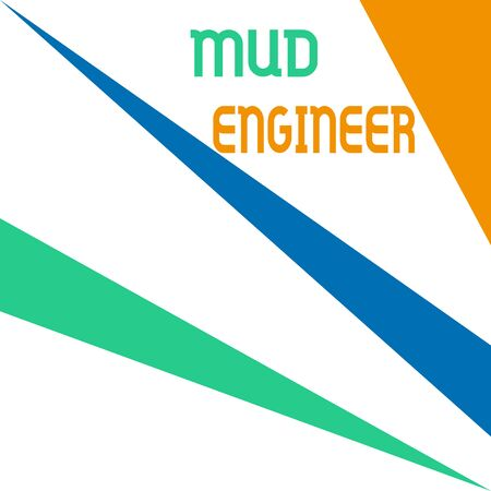 Word writing text Mud Engineer. Business photo showcasing liable for making mixture of fluids used in drilling process Square rectangle paper sheet loaded with full creation of pattern theme
