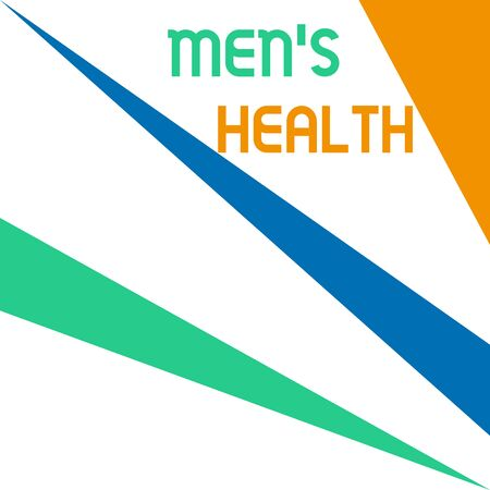 Word writing text Men S Health. Business photo showcasing State of complete physical and mental wellbeing of men Square rectangle paper sheet loaded with full creation of pattern theme