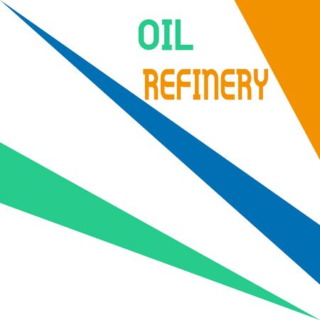 Word writing text Oil Refinery. Business photo showcasing industrial process of converting crude oil into petroleum Square rectangle paper sheet loaded with full creation of pattern theme
