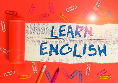 Conceptual hand writing showing Learn English. Concept meaning Universal Language Easy Communication and Understand