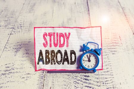 Text sign showing Study Abroad. Business photo text Pursuing educational opportunities in a foreign country 写真素材 - 131942116