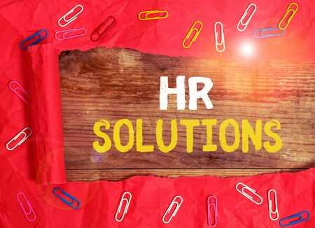 Word writing text Hr Solutions. Business photo showcasing Outsourced Huanalysis resources consultancy and support Experts