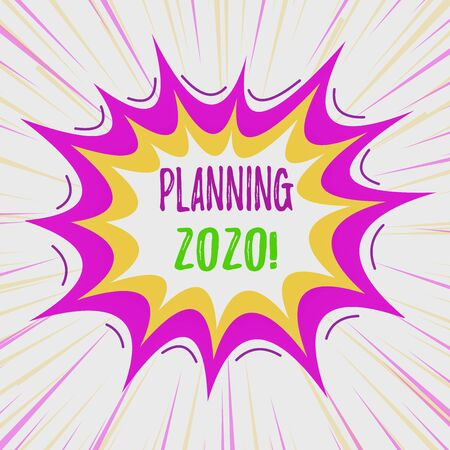 Text sign showing Planning 2020. Business photo text process of making plans for something next year Asymmetrical uneven shaped format pattern object outline multicolour design