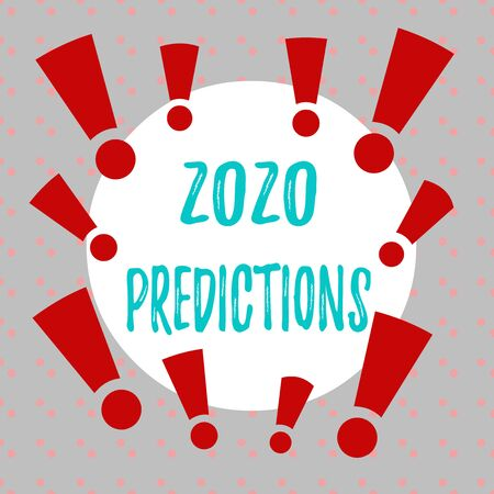 Word writing text 2020 Predictions. Business photo showcasing statement about what you think will happen in 2020 Asymmetrical uneven shaped format pattern object outline multicolour design