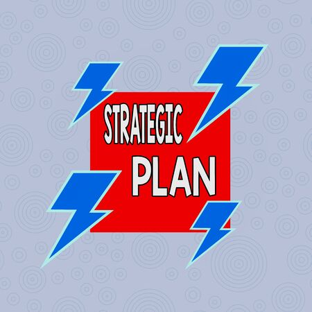 Conceptual hand writing showing Strategic Plan. Concept meaning a systematic process of envisioning a desired future Asymmetrical format pattern object outline multicolor design